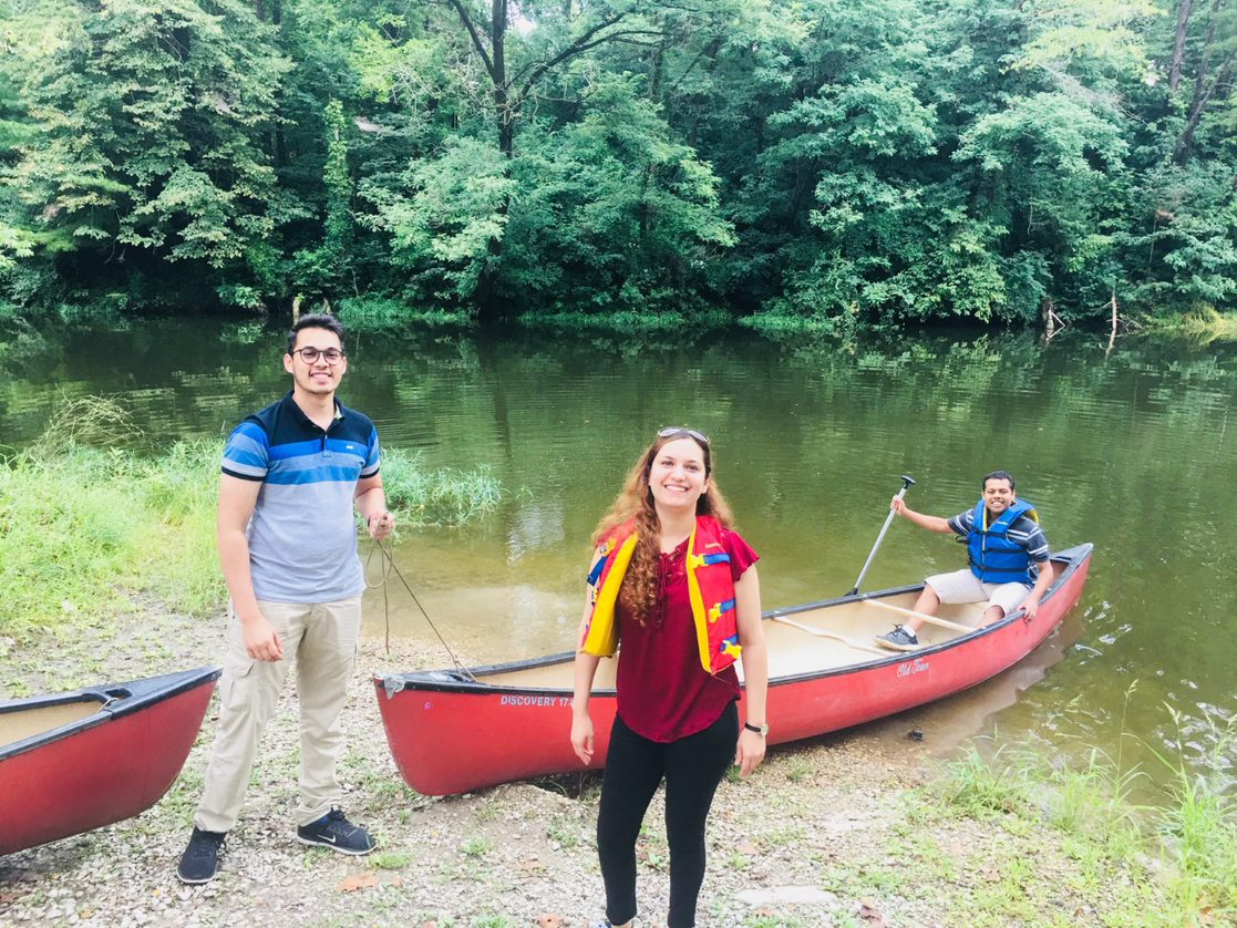 canoeing with grad students