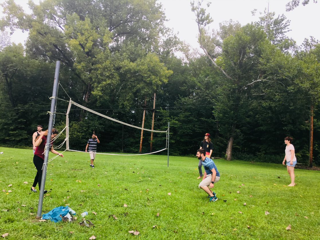 volleyball with grad students