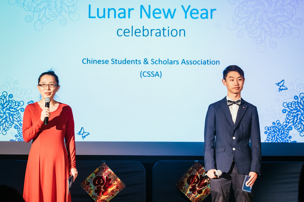 Dr. Tu Emcees CSSA's Chinese Lunar New Year Event