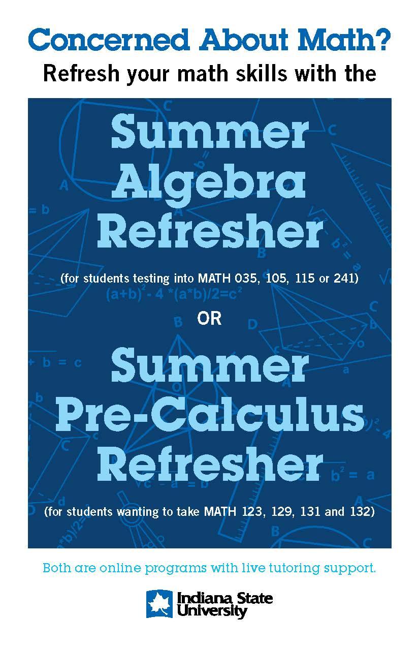 2020 Summer Math Refresher