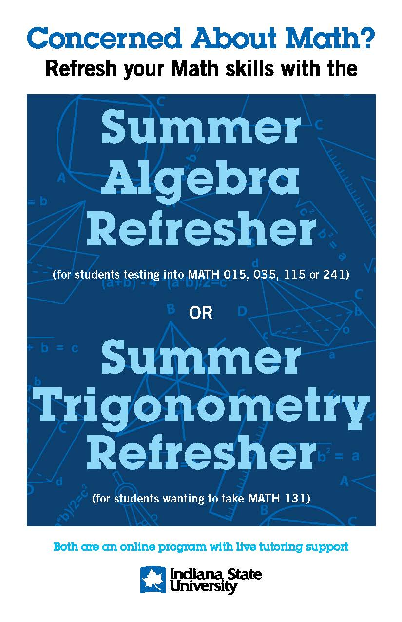 Summer Math Refresher | College of Arts and Sciences