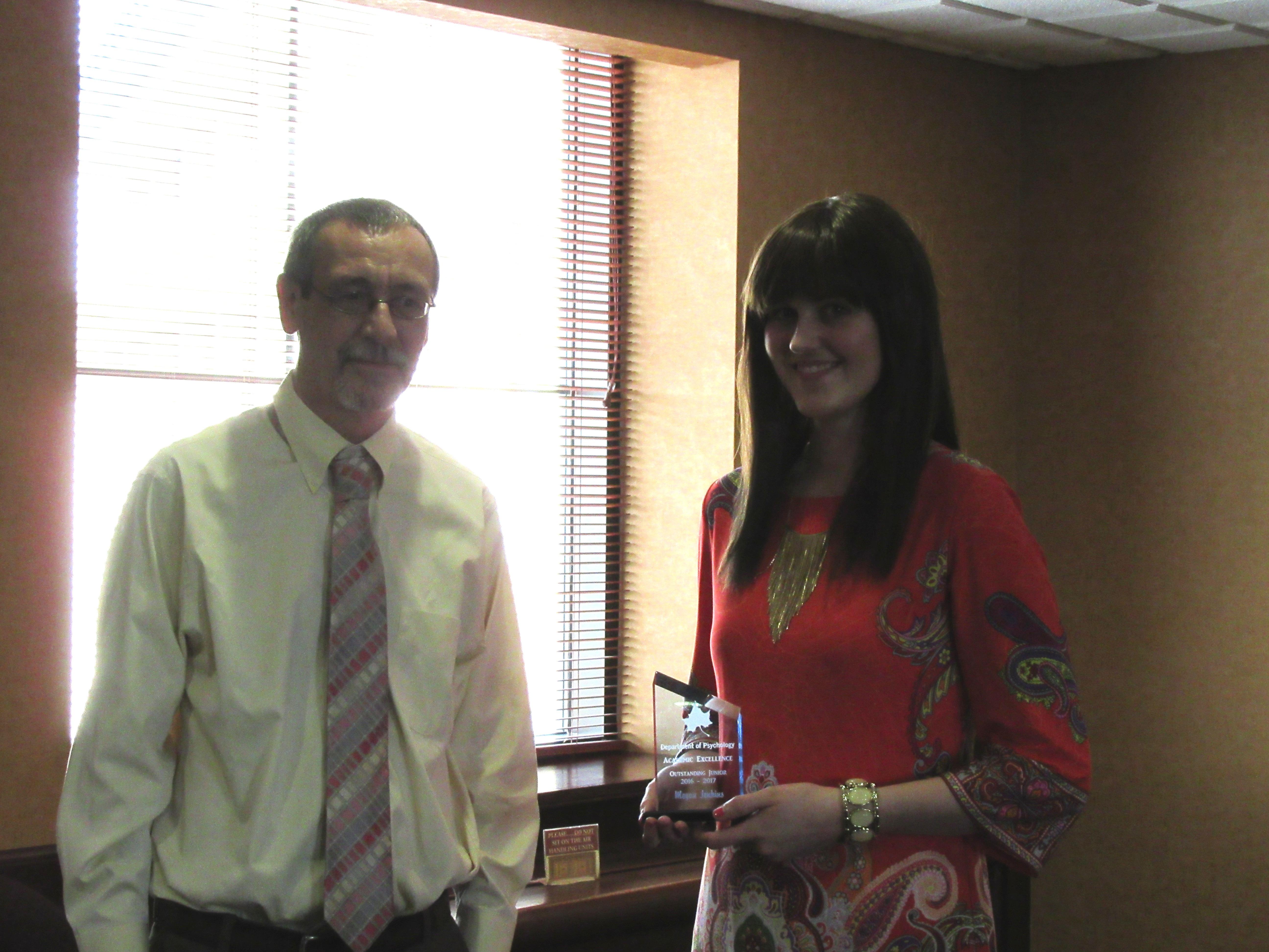 Dr. Sheets and Megan Jenkins