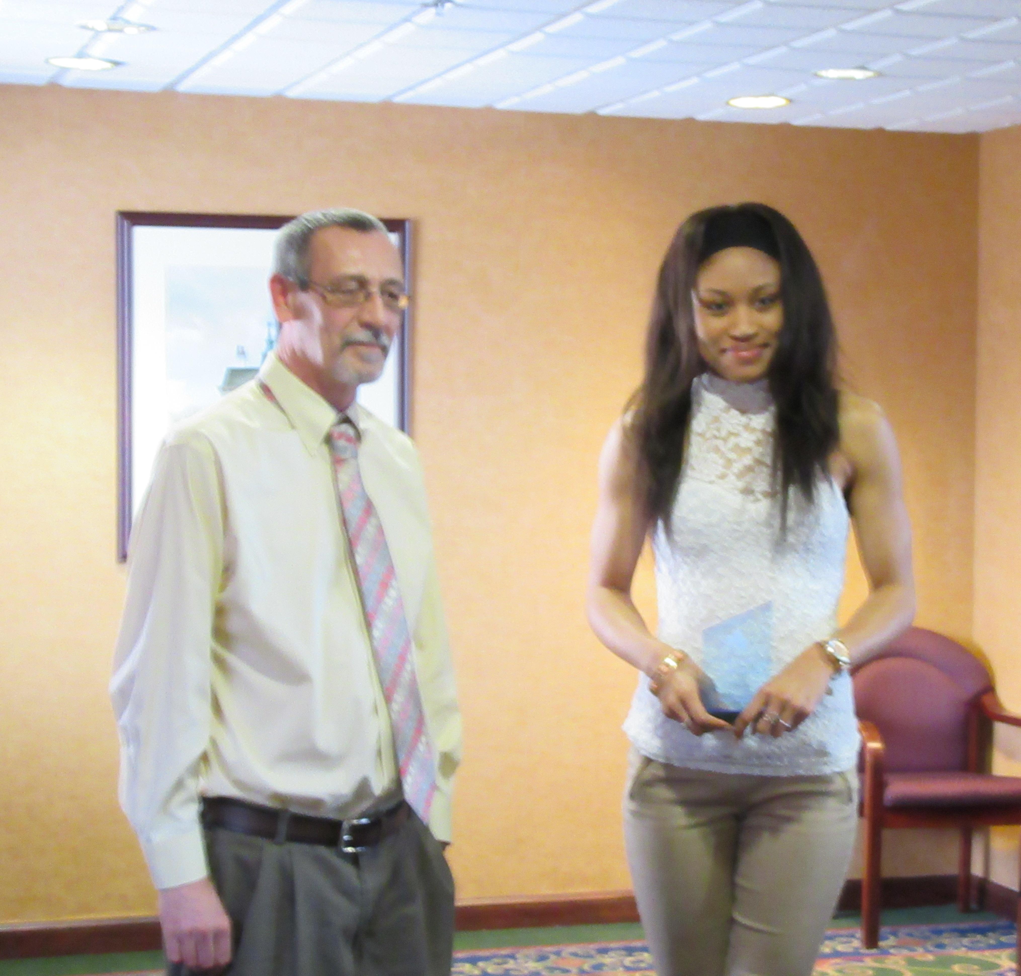 Dr. Sheets and Tiara Cross