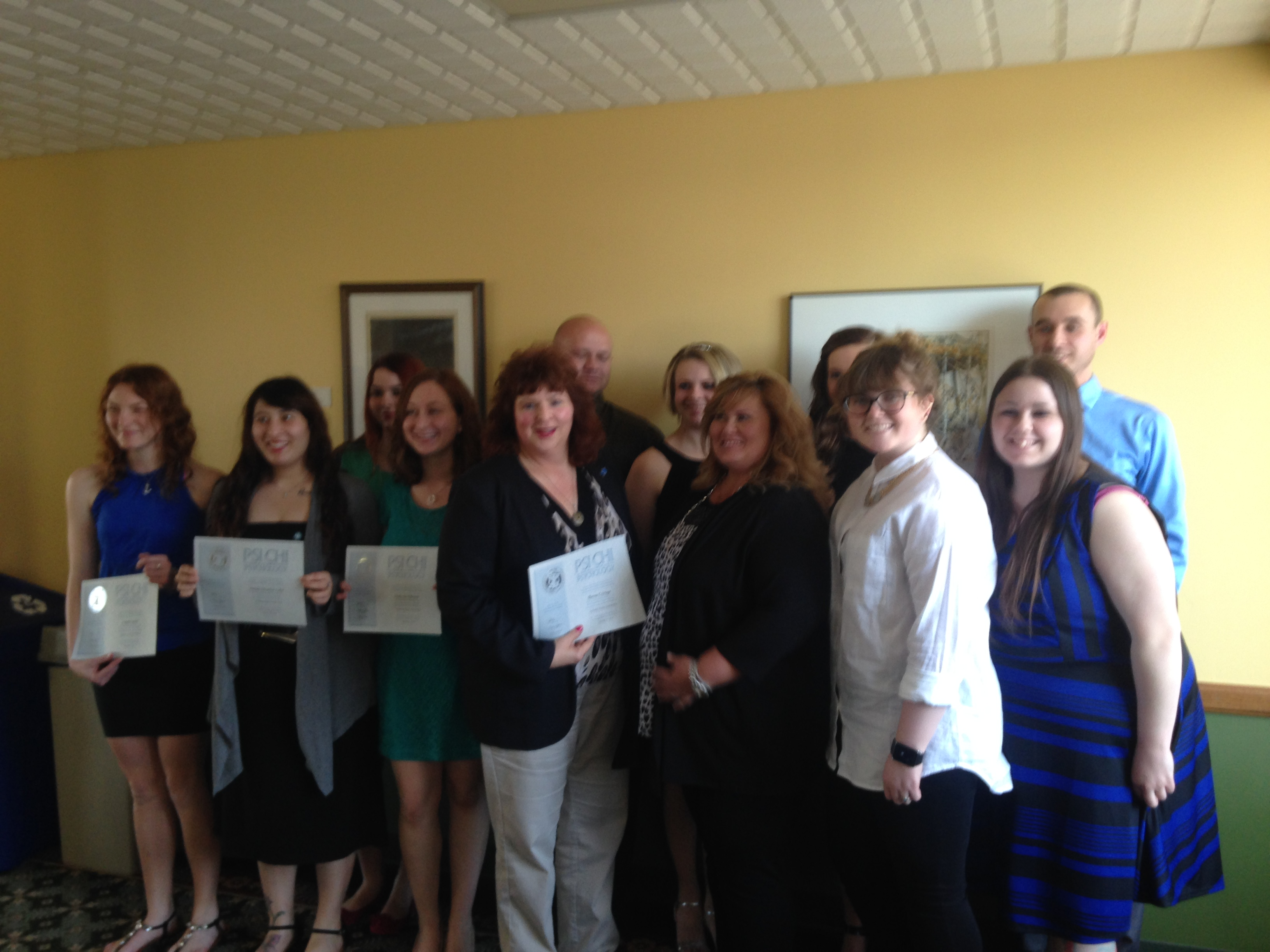 Psi Chi Inductees Spring 2015