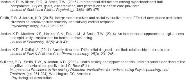 Dr. Jordan Publications