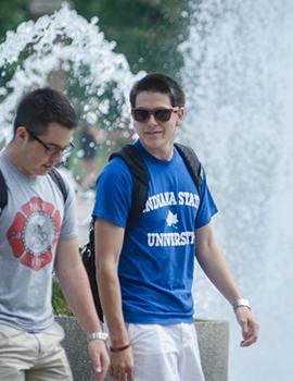Students Near Fountain