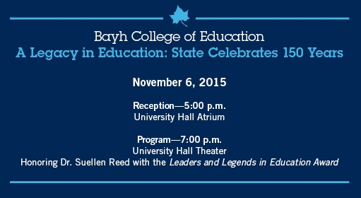 BCOE Sesquicentennial Celebration November 6, 2015 5:00 pm Reception, 7:00 pm Program