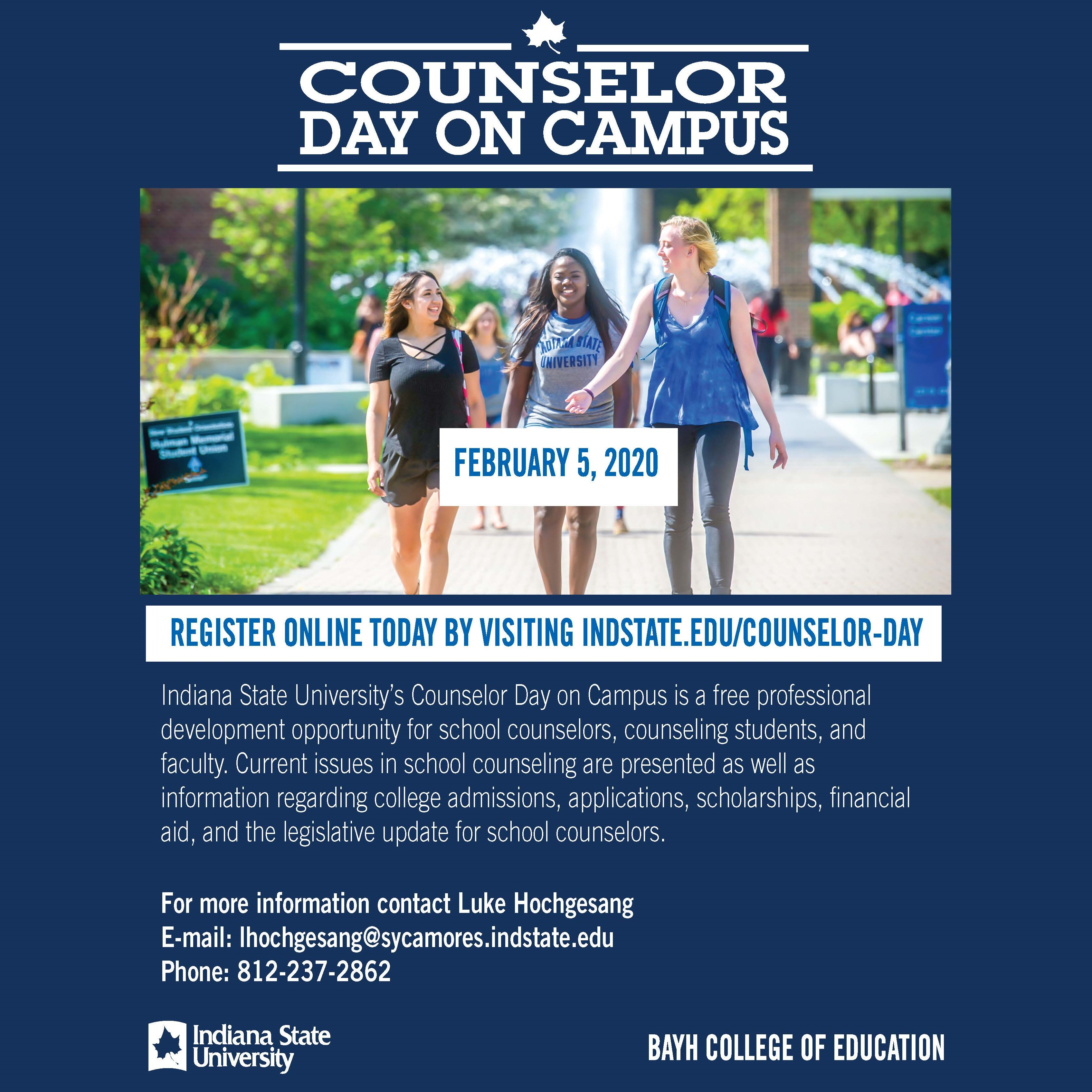 Counselor Day on Campus 2020 Registration
