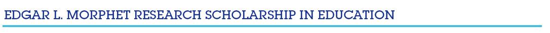 Morphet Scholarship
