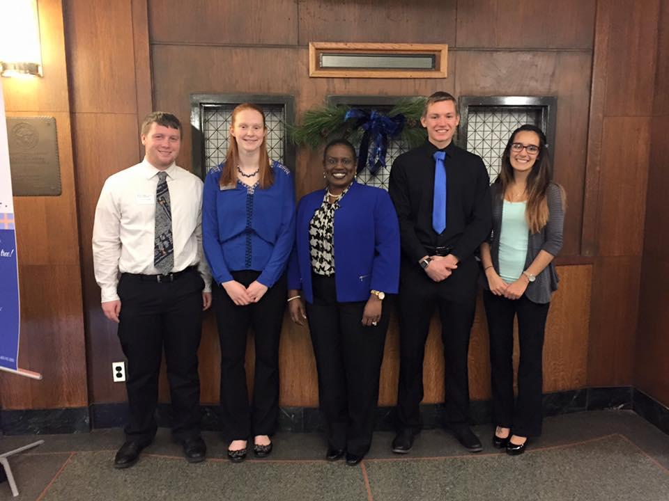 Dean Hill-Clarke, CHILL, & BEST scholars presented information to President Bradley