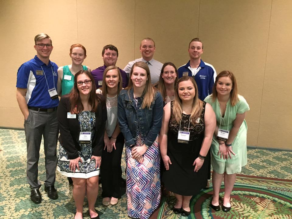 A great group of students representing CHILL at the ATE conference in Orlando, FL. They presented three sessions and attended many sessions in which they learned new ideas for our department and college. They were leaders and met many new friends. Thanks for representing our university extremely well.