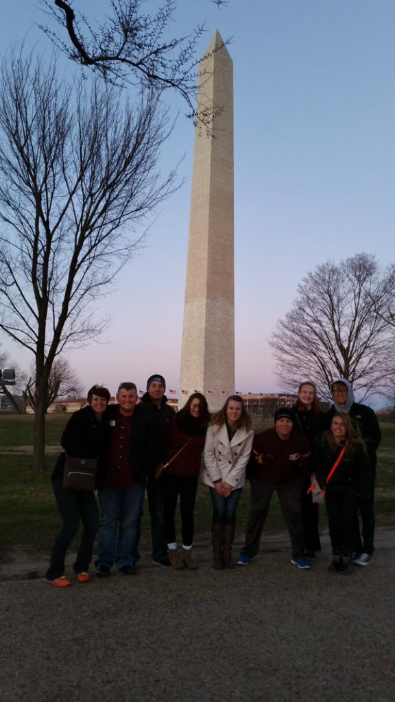 Members of CHILL in front of the Washington Monument