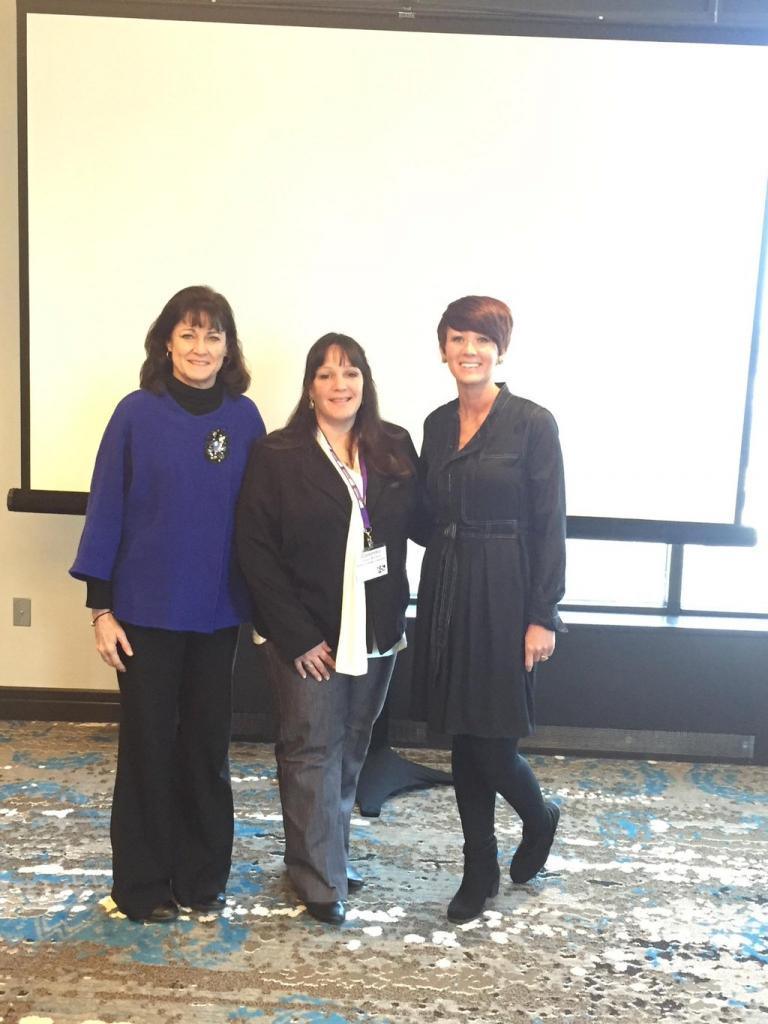 Della Thacker, Dr. Cassandra Carusso-Woolard, and Robin Thoma<br />