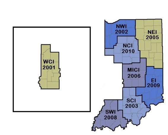 West Central Indiana AHEC Service Area map