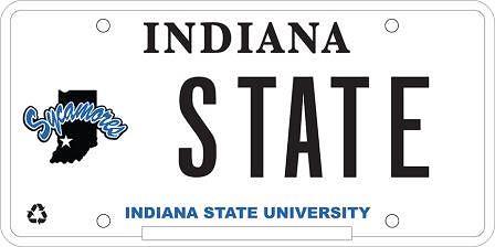ISU License Plate