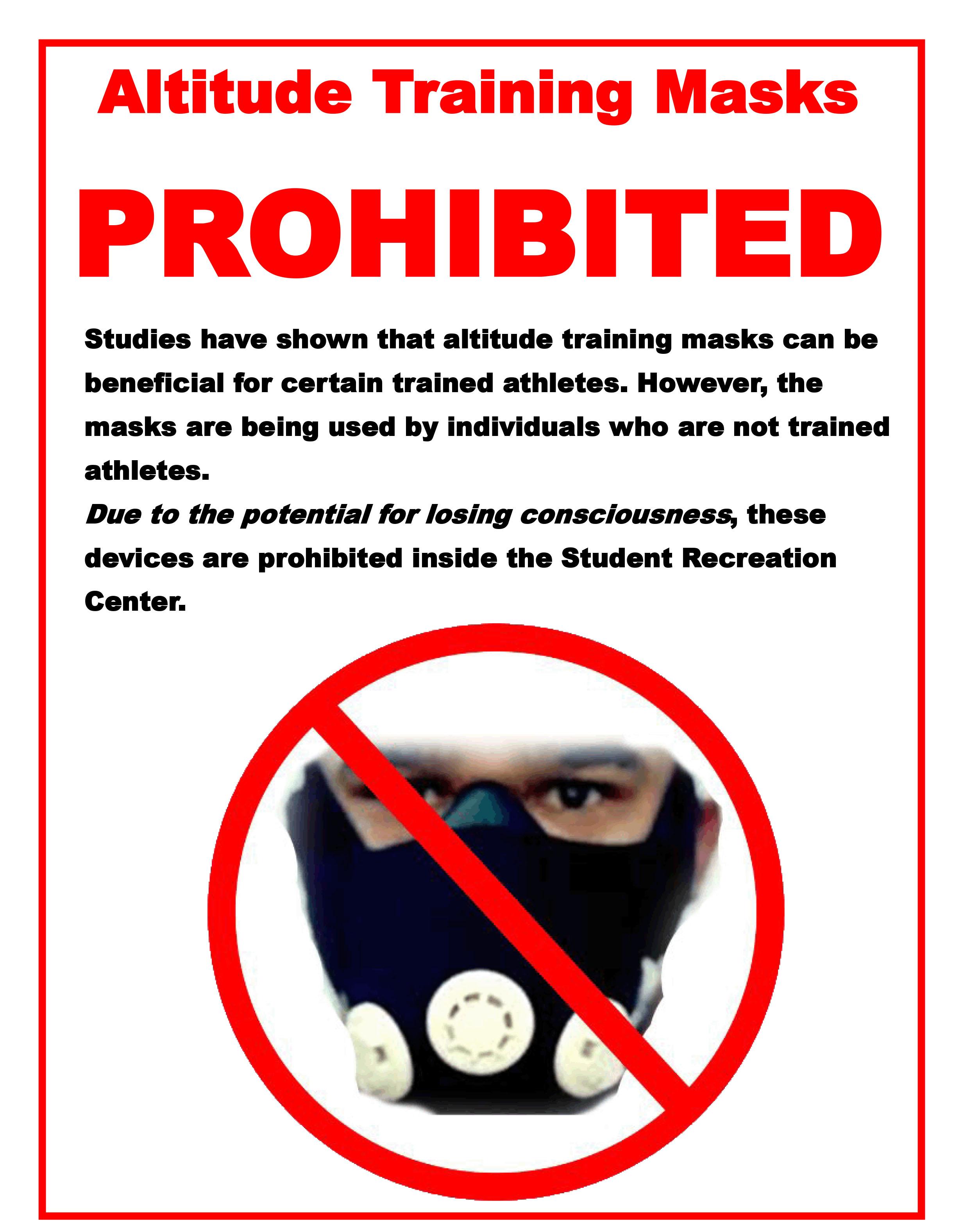 Altitude masks prohibited