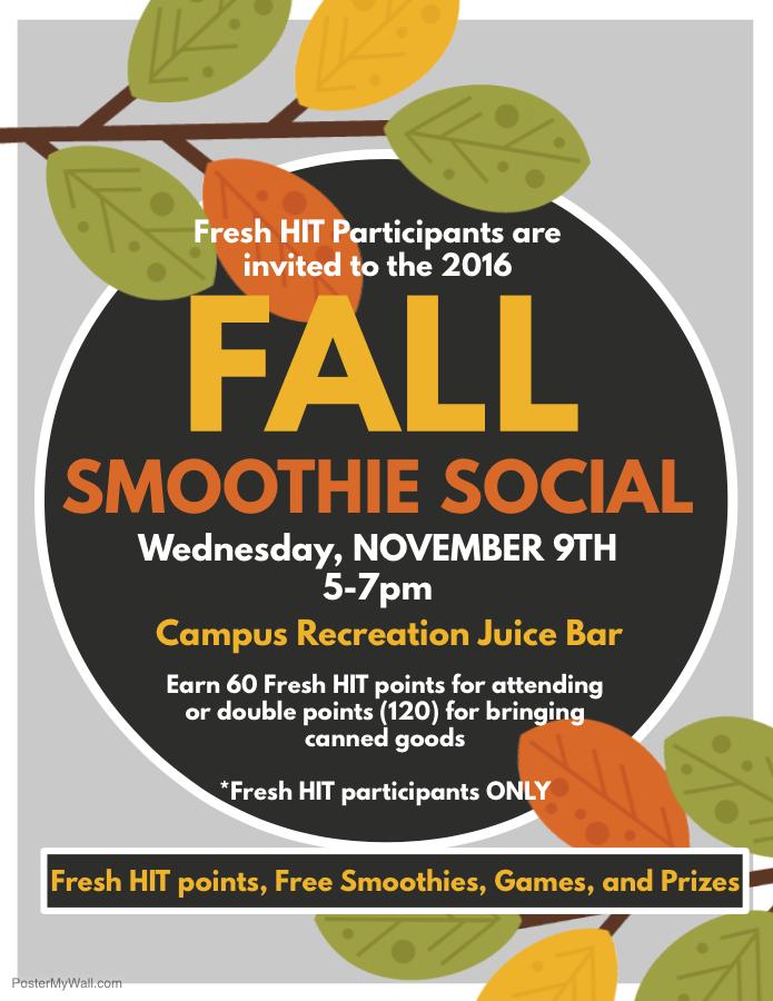 FreshHIT Smoothie Social Nov 2016