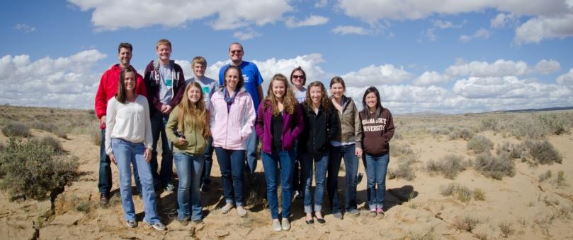 Honors Students on Navajo Nation