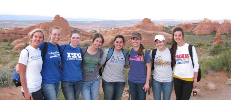 President's Scholars at Arches National Park in Moab, Utah