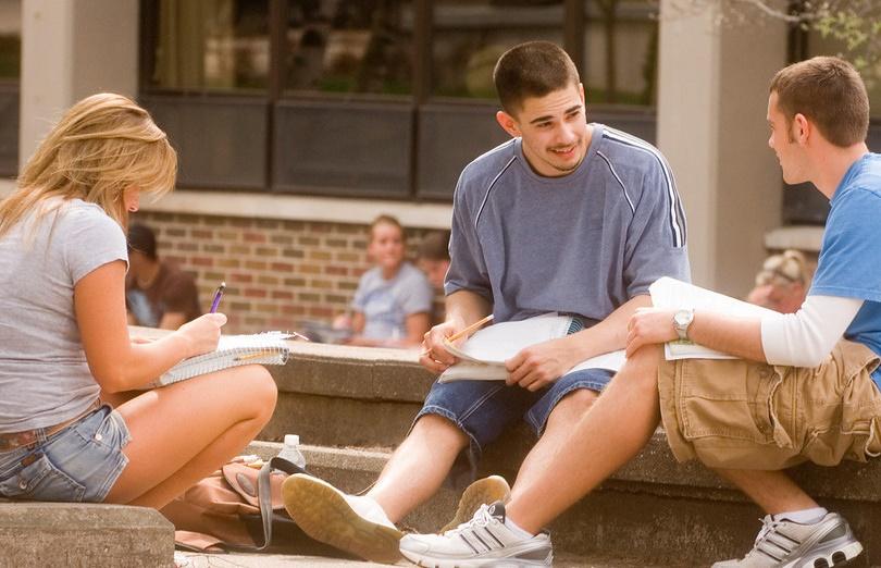 Registrar Home Image -Students Studying