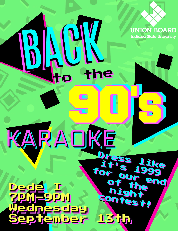 90's Karaoke Flyer 2017