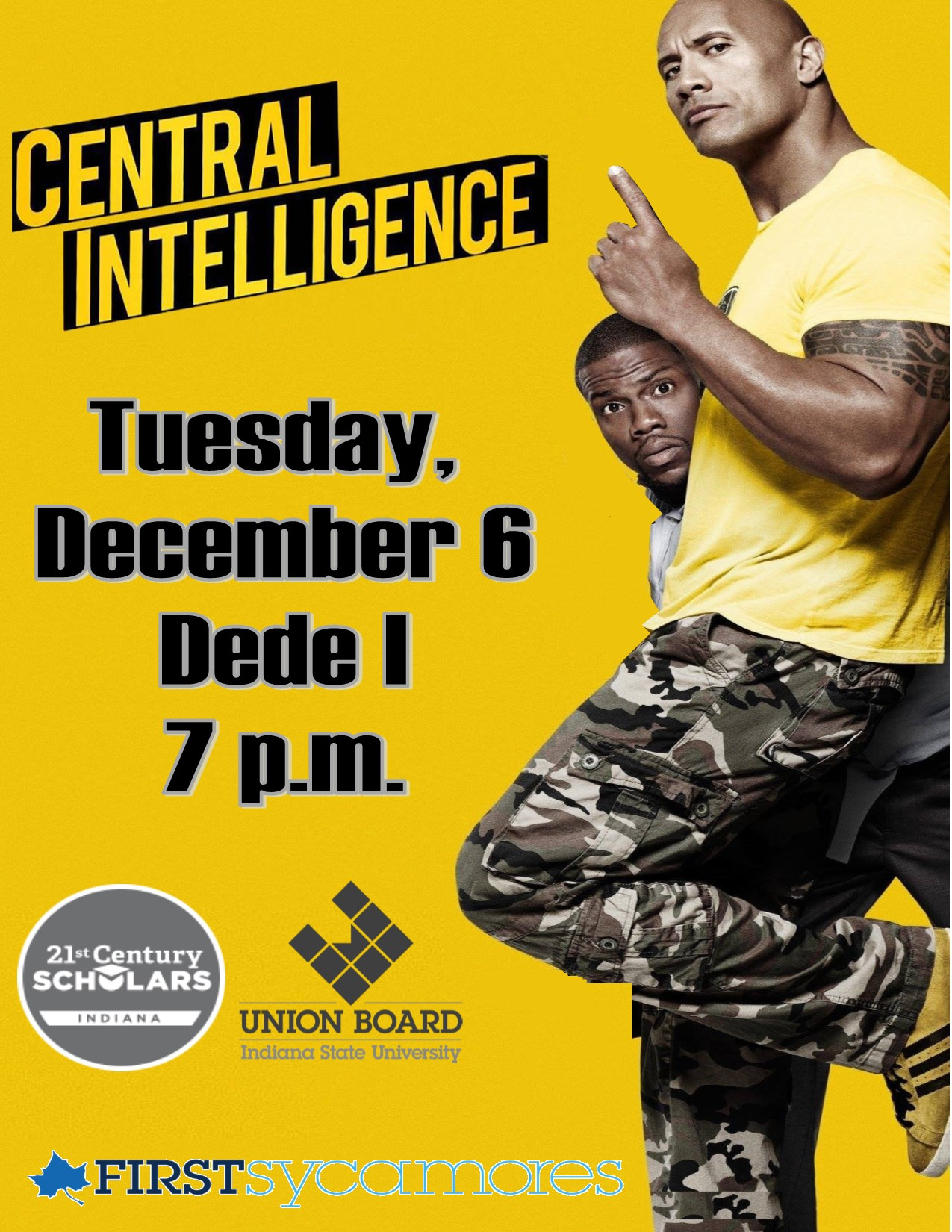 Central intelligence movie sponsored by Union Board
