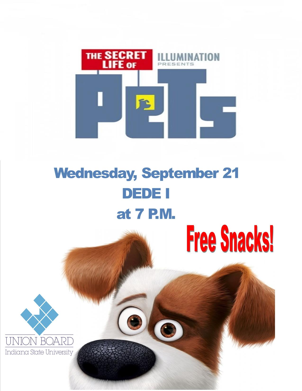 Secret Life of Pets Presented by Union Board