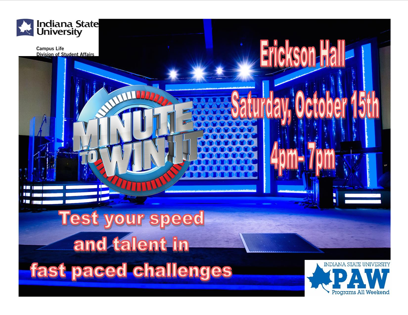 Programs All Weekend Presents Minute to Win It