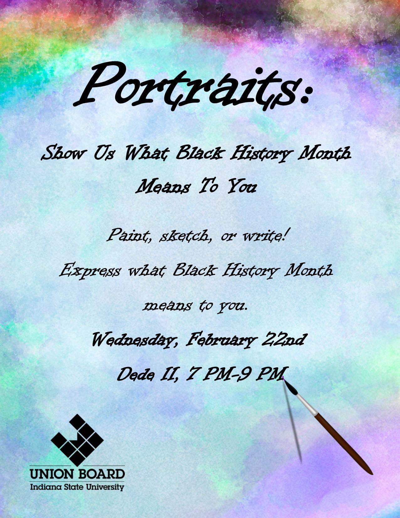 Portraits Flyer