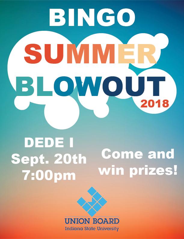Summer Blowout Bingo