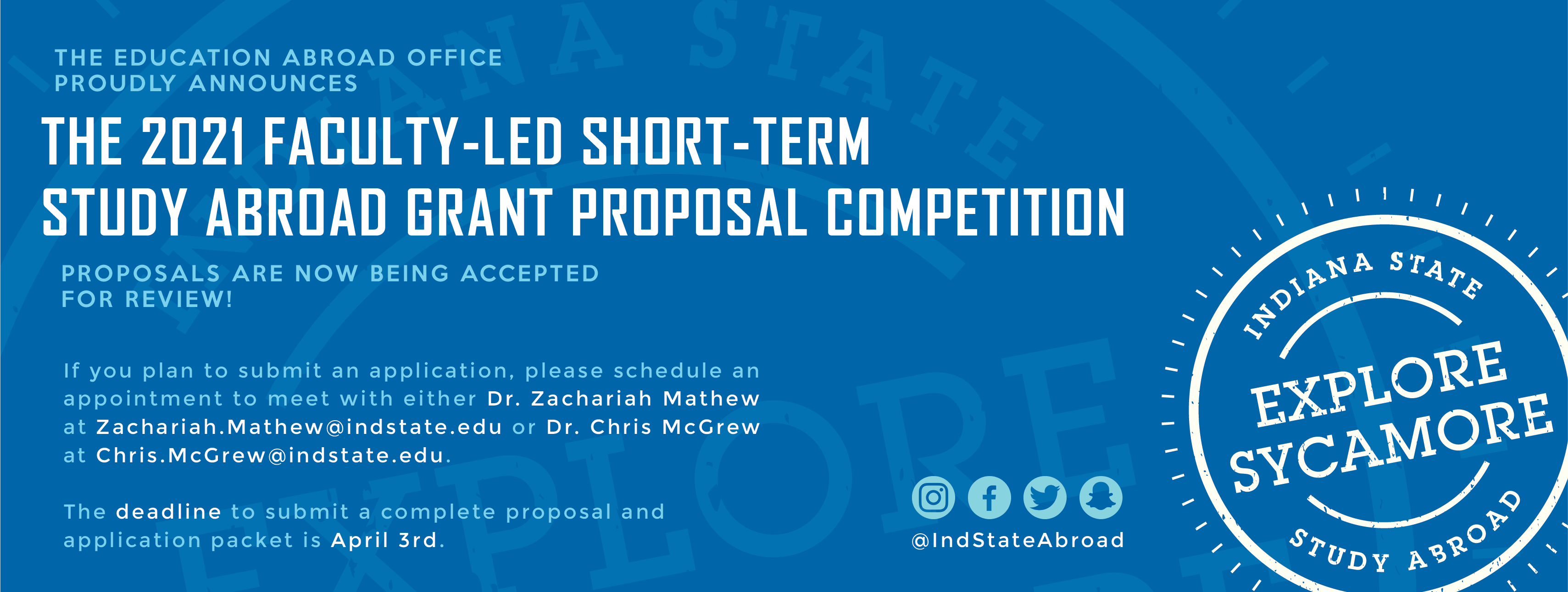 2021 Faculty-Led Grant Proposal Competition