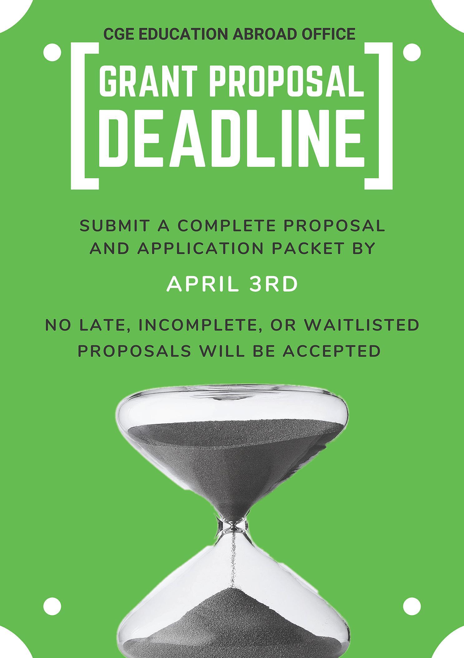 2021 Grant Application Deadline