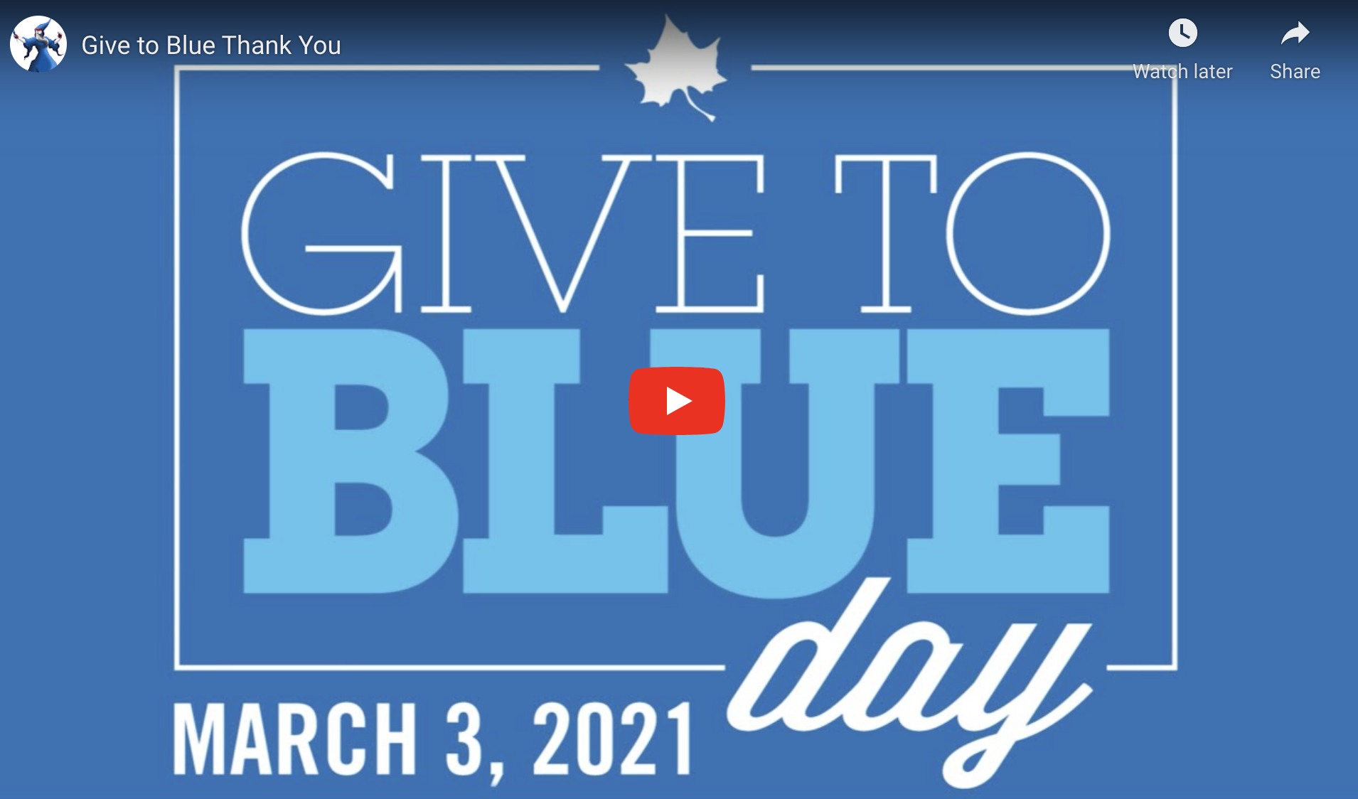 Give To Blue 2020