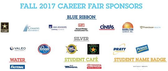 Sponsors Career Fair Fall 17