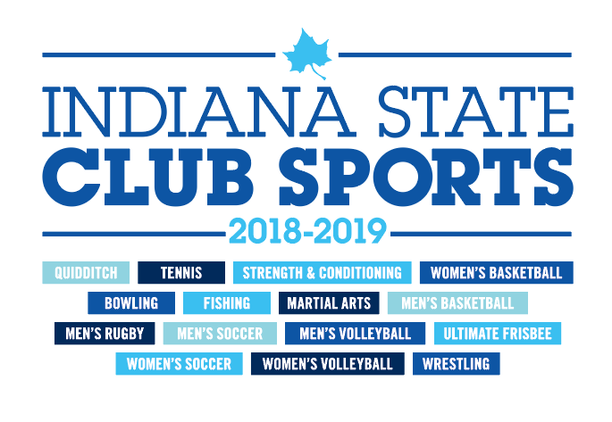 2018-19 Club Sports t-shirt Indiana State Campus Rec
