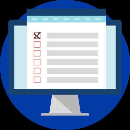 computer checklist icon