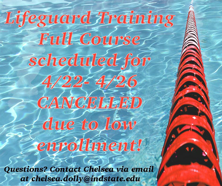 Lifeguard Training class CANCELLED April 22-26 2019