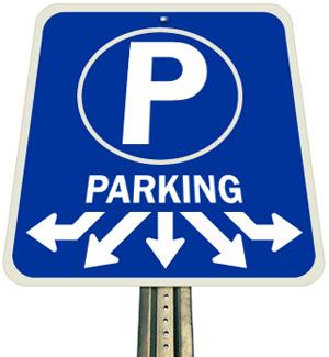 Parking sign image blue