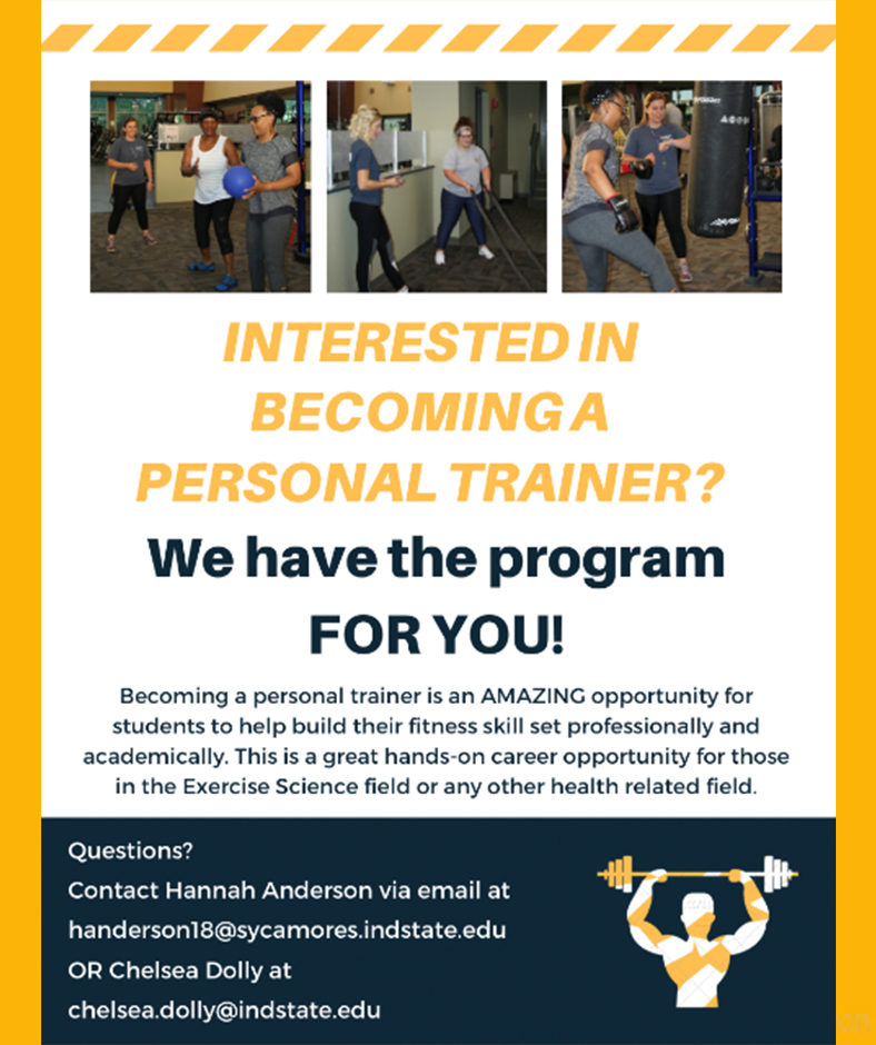Campus Rec PT Training program recruitment March 2019