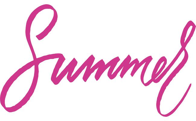 Summer Script pink