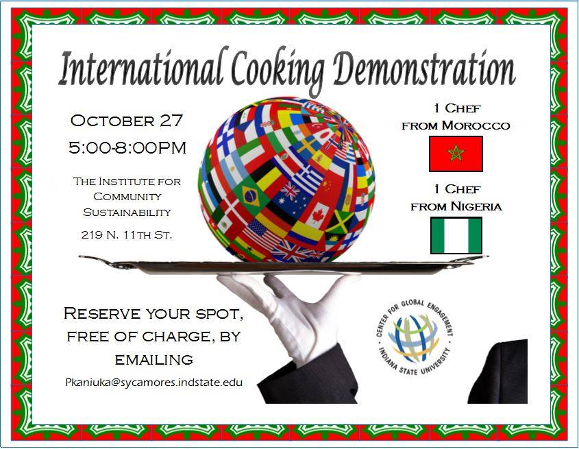 INTL cooking Demonstration Morocco/Nigeria