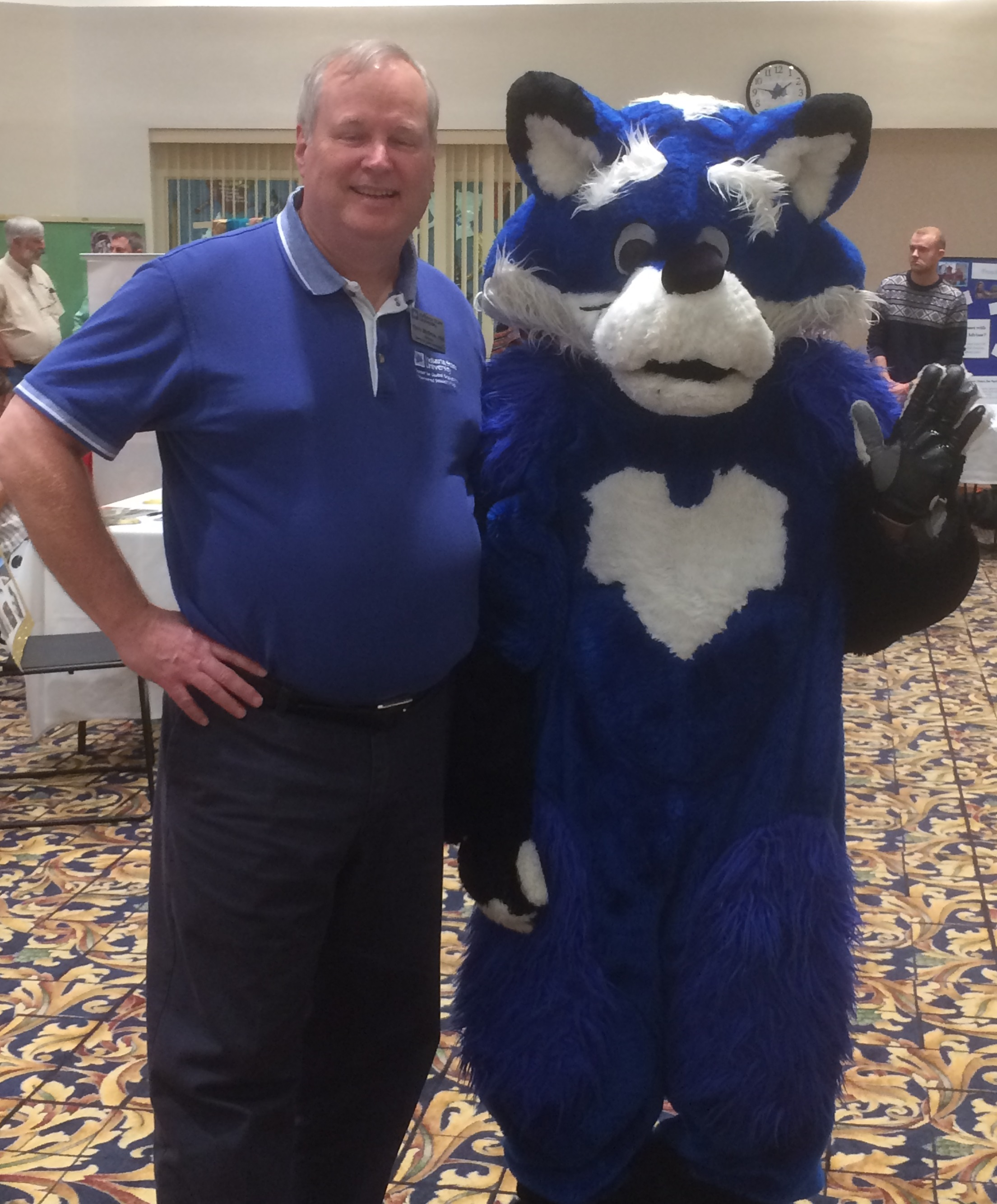Director of CGE Dr. Chris McGrew with Sycamore Sam