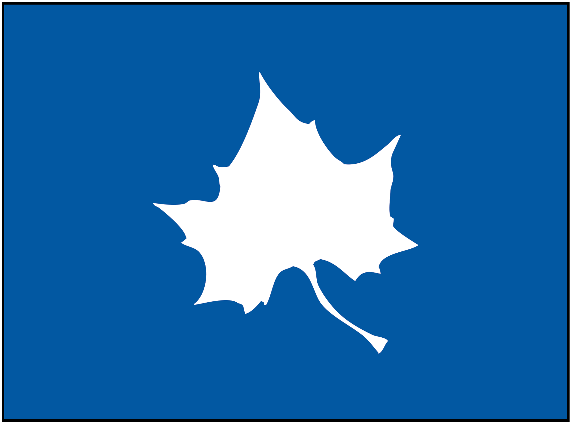 State blue with the leaf