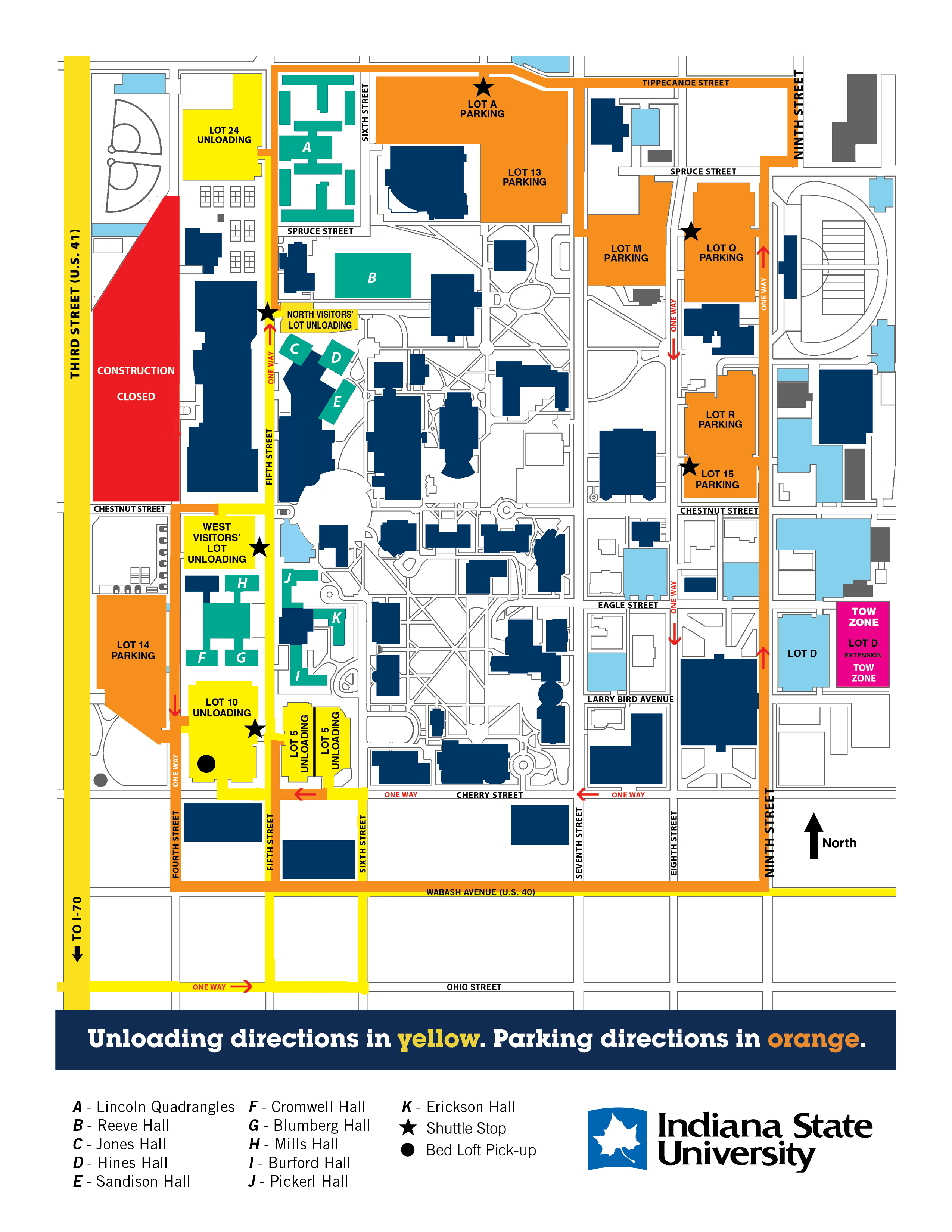 Fall MoveIn Indiana State University - Indiana state map