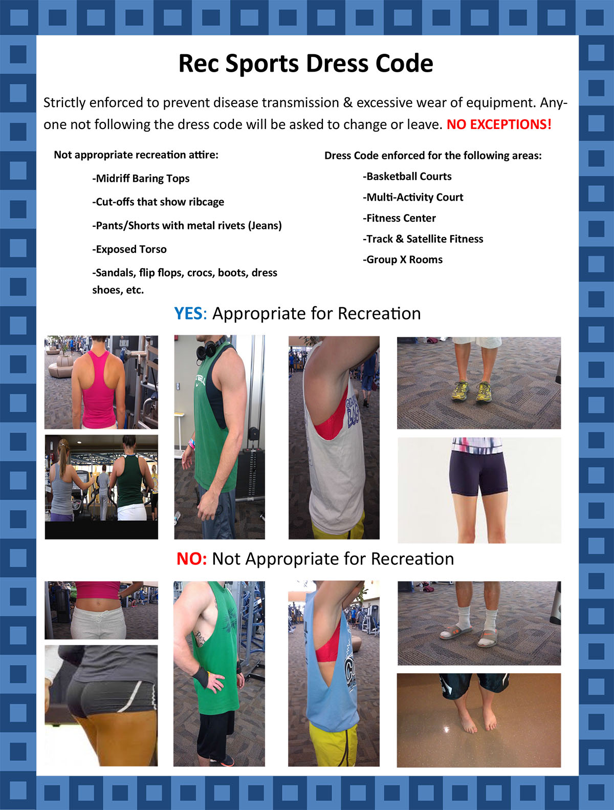 Rec Sports Dress Code Indiana State University