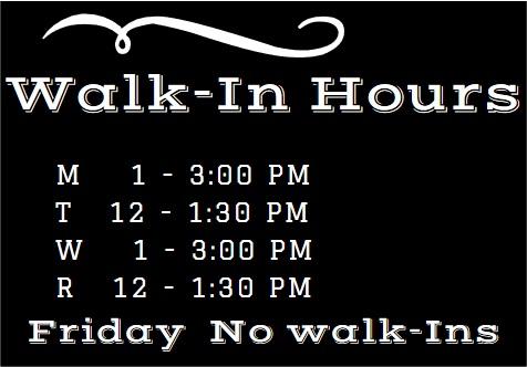 Walk In Hours