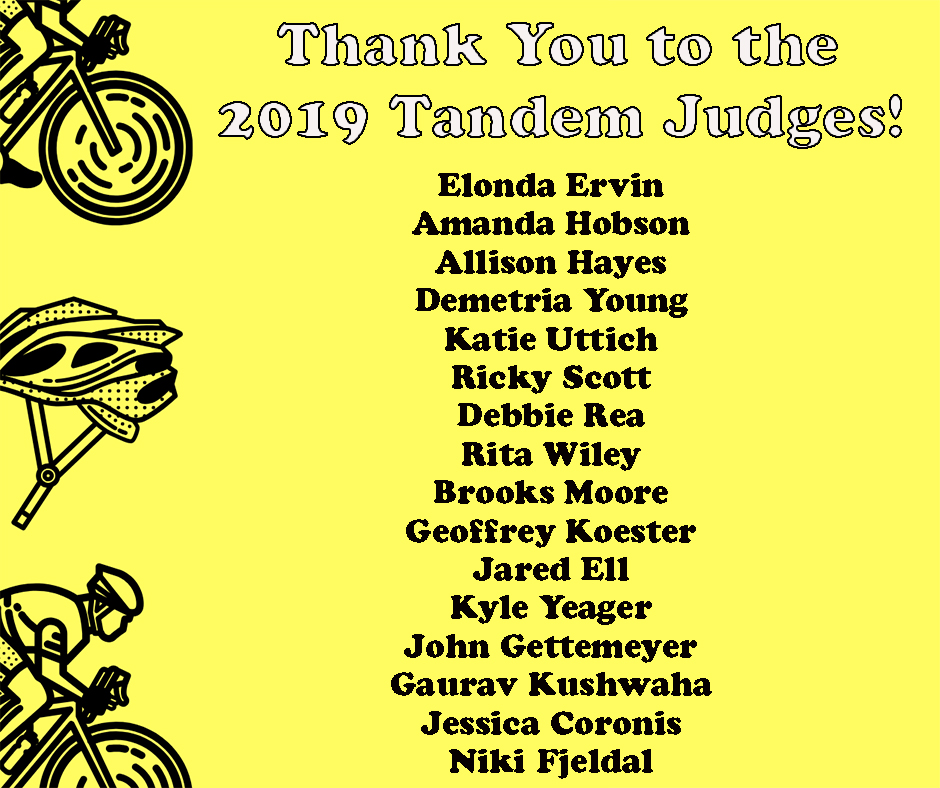 Tandem 2019 Thank You to Judges