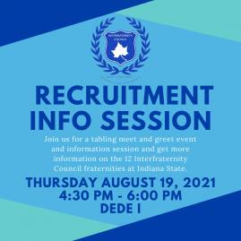 Event Flyer for Interfraternity Council Recruitment Information Session