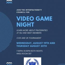 IFC Video Game Night Flyer