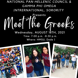 Promotional Event Flyer for NPHC Meet the Greeks